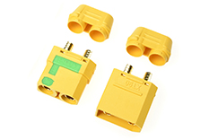 Revtec - Connector - XT-90S - Anti Spark - w/ Cap - Gold Plated - Male + Female - 1 pair