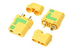 Revtec - Connector - XT-90S - Anti Spark - w/ Cap - Gold Plated - Male - 2 pcs