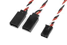 Revtec - Servo Y-Lead - HD Silicone Twisted - Futaba - 22AWG / 60 Strands - 15cm - 1 pc