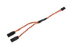 Revtec - Servo Y-Lead - HD Silicone Twisted - JR/Hitec - 22AWG / 60 Strands - 15cm - 1 pc