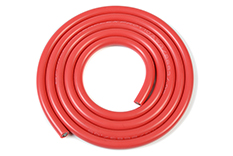 G-Force RC - Silicone Wire - Powerflex PRO+ - Red - 10AWG - 2683/0.05 Strands - OD 5.5mm - 1m