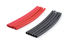 G-Force RC - Shrink Tubing - 2.4mm - Red + Black - 10 pcs