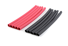 G-Force RC - Shrink Tubing - 3.2mm - Red + Black - 10 pcs