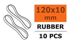 G-Force RC - Wing Rubber Bands - 120 X 10mm - 10 pcs