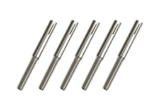 G-Force RC - Threaded Coupler - M2.5 - Outer - Wire Dia. 2.3mm - 5 pcs