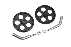 Revtec - Landing Gear Axle - Angled - 2mm Carbon Rod - Incl. Wheels - 1 Set