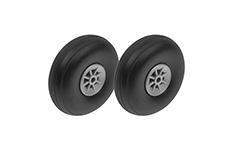 G-Force RC - Airplane Wheels - Rubber w/ Nylon Rim - 50mm - Shaft Dia. 3mm - 2 pcs