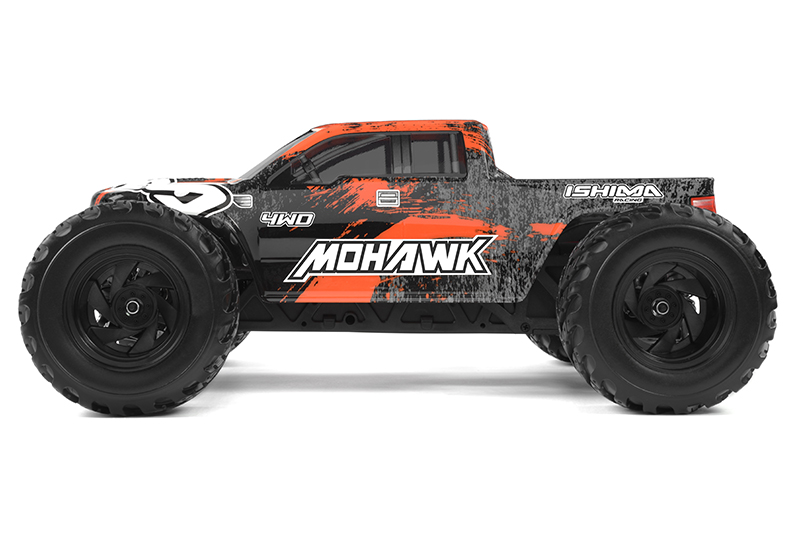 Ishima - Car Kit - Mohawk 4WD - 1/12 Monster Truck - Incl Battery and charger - RTR
