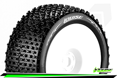 "Louise RC - T-PIRATE - 1-8 Truggy Tire Set - Mounted - Soft - White Rims - 1/2""-Offset - Hex 17mm - 1 Pair"