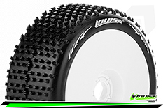 Louise RC - B-HORNET - 1-8 Buggy Tire Set - Mounted - Soft - White Rims - Hex 17mm - 1 Pair