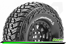 Louise RC - CR-GRIFFIN - 1-10 Crawler Tire Set - Mounted - Super Soft - Black 1.9 Wheels - Hex 12mm - L-T3230VB