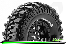 Louise RC - CR-CHAMP - 1-10 Crawler Tire Set - Mounted - Super Soft - Black 1.9 Wheels - Hex 12mm - L-T3231VB