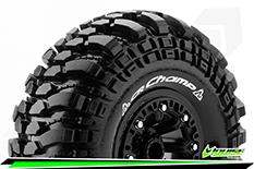 "Louise RC - CR-CHAMP - 1-10 Crawler Tire Set - Mounted - Super Soft - Black 2.2"" Rims - Hex 12mm - 1 Pair"