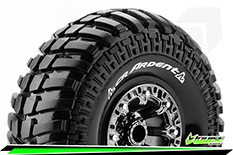 "Louise RC - CR-ARDENT - 1-10 Crawler Tire Set - Mounted - Super Soft - Black Chrome 2.2"" Rims - Hex 12mm - 1 Pair"