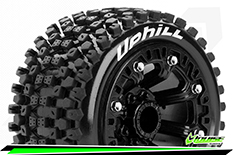 "Louise RC - ST-UPHILL - 1-16 Truck Tire Set - Mounted - Soft - Black 2.2"" Rims - REVO - SUMMIT - Savage XS Flux - Front - Rear - 1 Pair"