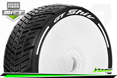 Louise RC - GT-SHIV - MFT Technology - 1-8 Buggy Tire Set - Mounted - Super Soft  - White Rims - Hex 17mm - 1 Pair
