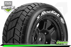 Louise RC - MFT - X-ROCKET - KRATON 8S Serie Tire Set - Mounted - Sport - Black Wheels - Hex 24mm - L-T3295BM