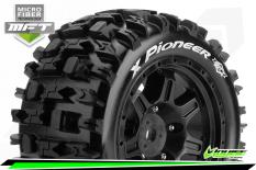 Louise RC - MFT - X-PIONEER - KRATON 8S Serie Tire Set - Mounted - Sport - Black Wheels - Hex 24mm - L-T3296BM
