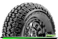Louise RC - CR-GRIFFIN - Class 1 - 1-10 Crawler Tire Set - Mounted - Super Soft - Black Chrome 1.9 Wheels - Hex 12mm - L-T3344VBC