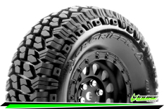 Louise RC - CR-GRIFFIN - Class 1 - 1-10 Crawler Tire Set - Mounted - Super Soft - Black 1.9 Wheels - Hex 12mm - L-T3344VB