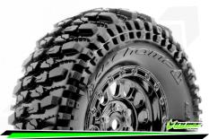 Louise RC - CR-CHAMP - Class 1 - 1-10 Crawler Tire Set - Mounted - Super Soft - Black Chrome 1.9 Wheels - Hex 12mm - L-T3345VBC