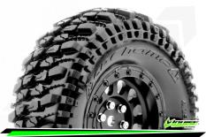 Louise RC - CR-CHAMP - Class 1 - 1-10 Crawler Tire Set - Mounted - Super Soft - Black 1.9 Wheels - Hex 12mm - L-T3345VB