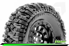 Louise RC - CR-MALLET - Class 1 - 1-10 Crawler Tire Set - Mounted - Super Soft - Black 1.9 Wheels - Hex 12mm - L-T3346VB