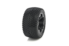 Medial Pro - Sport Tires glued on Rims - Matrix 2.8 - Black Rims - Front Rustler/VXL, Stampede/VXL - Rear Jato, Nitro Sport, Nitro Rustler - Front + Rear Stampede 4X4