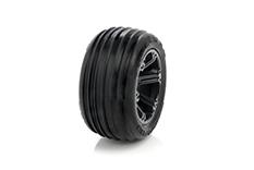 Medial Pro - Sport Tires glued on Rims - Tracer 2.8 - Front, Black Rims - Front Jato, Nitro Sport, Nitro Rustler