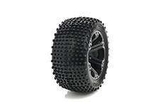 Medial Pro - Sport Tires glued on Rims - Viper 2.8 - Black Rims - Front Jato, Nitro Sport, Nitro Rustler