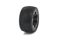 Medial Pro - Sport Tires glued on Rims - Matrix 2.8 - Black Rims - Front Jato, Nitro Sport, Nitro Rustler