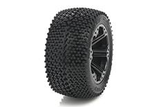 Medial Pro - Sport Tires glued on Rims - Matrix 2.8 - Black Rims - Rear Rustler/VXL, Stampede/VXL