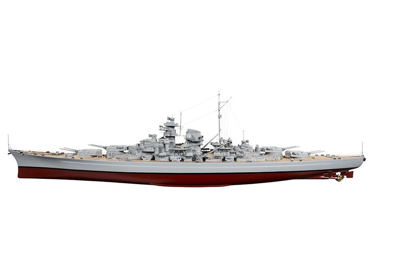 Naviscales -  Bismarck - Destroyer Boat, incl. Esc, Motor, Servo, No Radio