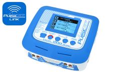 Pulsetec - Quad Charger - Excel 200 Quad - Pulse Link App - AC 100-240V - DC 11-18V - 200W Power - 0.1-10.0A - 1-6 Li-xx - 1-15 Ni-xx - 2-20V PB
