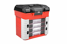 Rocabox - Tool case - RC-4230-40-R - Black / Red - 4 Assortment Boxes
