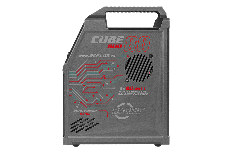 Rc Plus - Cube 80 Duo Charger - AC-DC - 2x 80 Watt