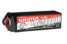 RC Plus - Li-Po Batterypack - Sigma 45C - 4200 mAh - 6S1P - 22.2V - XT-60