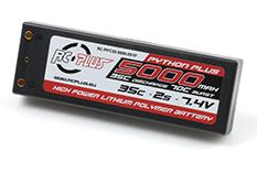 RC Plus - Python Plus Car 35C 5000 Mah 2S 7,4V Hard Case, 4mm Bullet Conn.
