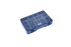 Rocabox - Assortment Box - RD-2719-04-20 - Blue / Clear - 20 Compartments