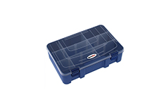 Rocabox - Assortment Box - RD-2719-07-09 - Blue / Clear - 9 Compartments