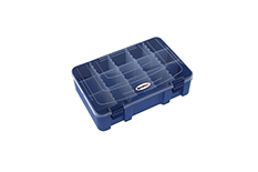 Rocabox - Assortment Box - RD-2719-07-15 - Blue / Clear - 15 Compartments
