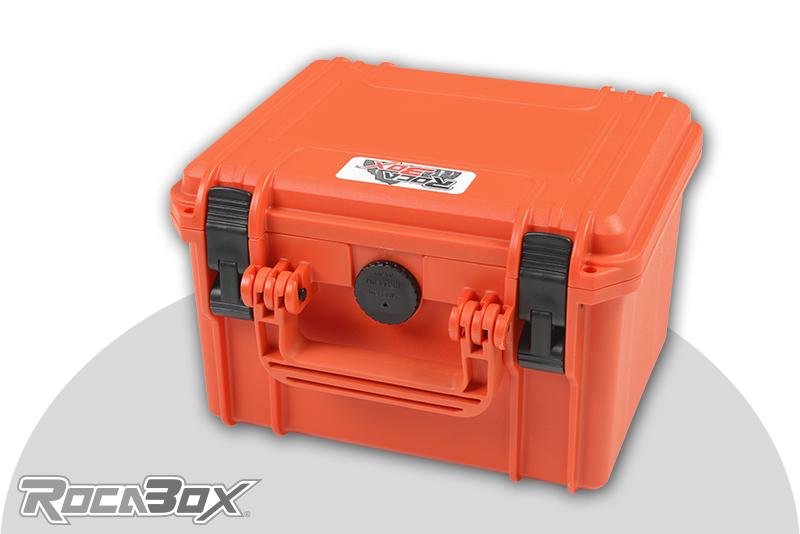 Rocabox - Waterproof IP67 Universal Case - Orange - RW-2318-15-OF - Cubed Foam