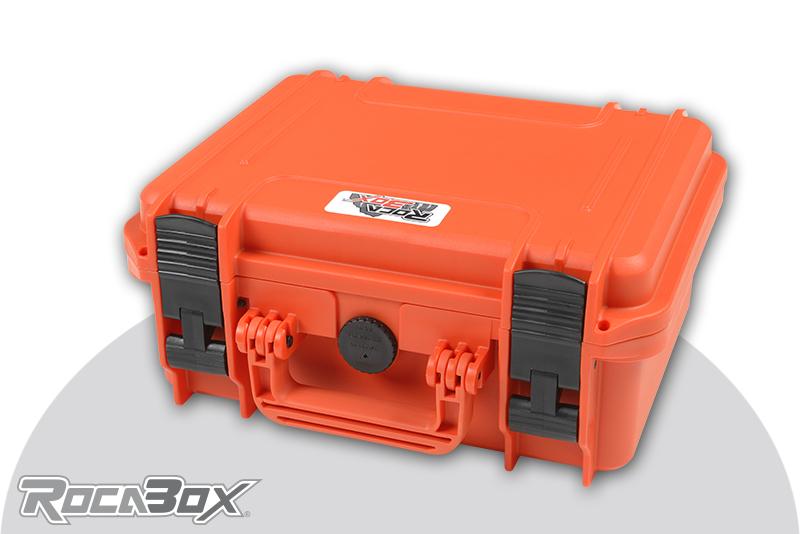Rocabox - Waterproof IP67 Universal Case - Orange - RW-3022-13-OF - Cubed Foam