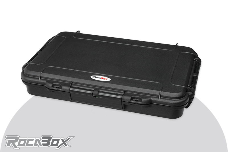 Rocabox - Waterproof IP67 Assortment Box - Black - RW-3220-05-BD - Convulated Foam