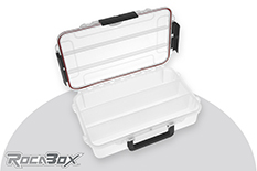 Rocabox - Waterproof IP67 Assortment Box - Clear - RW-3220-08-C3 - 3 Compartments