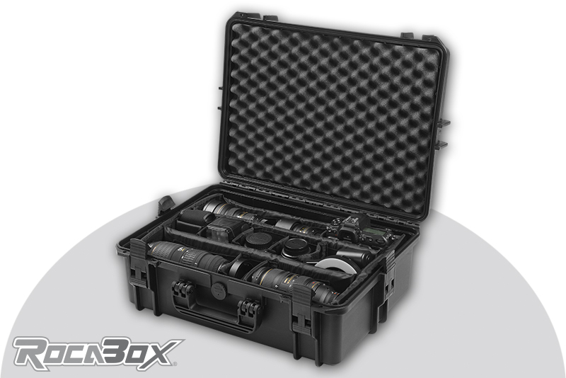 Rocabox - Waterproof IP67 Camera Case - Black - RW-5035-19-BC - Padded Inlay