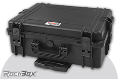 Rocabox - Waterproof IP67 Universal Trolley Case - Black - RW-5035-19-BTR