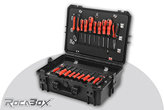 Rocabox - Waterproof IP67 Tool Case - Black - RW-5035-19-BT - Tool Holder