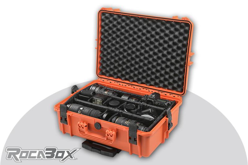 Rocabox - Waterproof IP67 Camera Trolley Case - Orange - RW-5035-19-OCTR - Padded Inlay