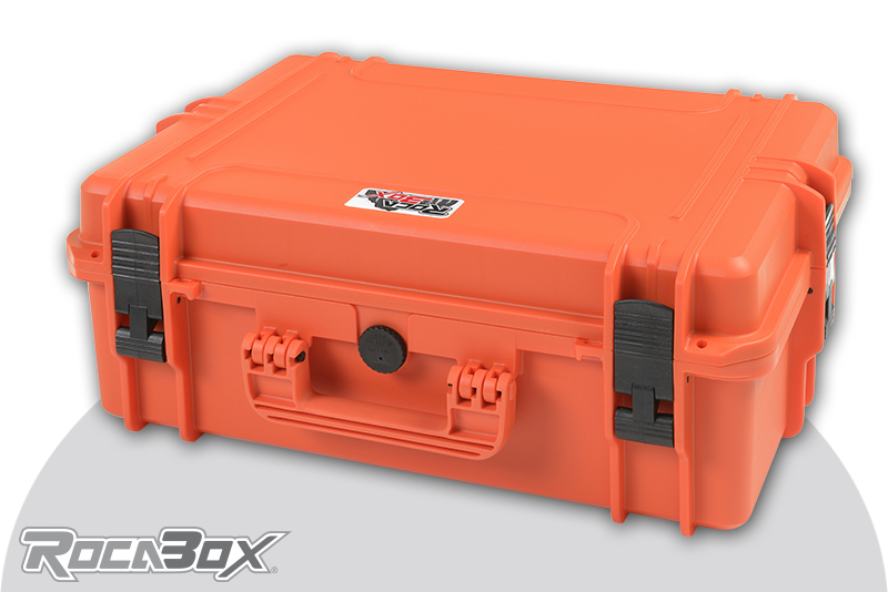 Rocabox - Waterproof IP67 Universal Case - Orange - RW-5035-19-OF - Cubed Foam